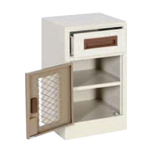Basic Model Bedside Locker With Mesh Doors Arran Access