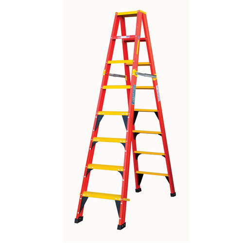 lfgds range heavy duty double sided a frame ladder with fibreglass tread